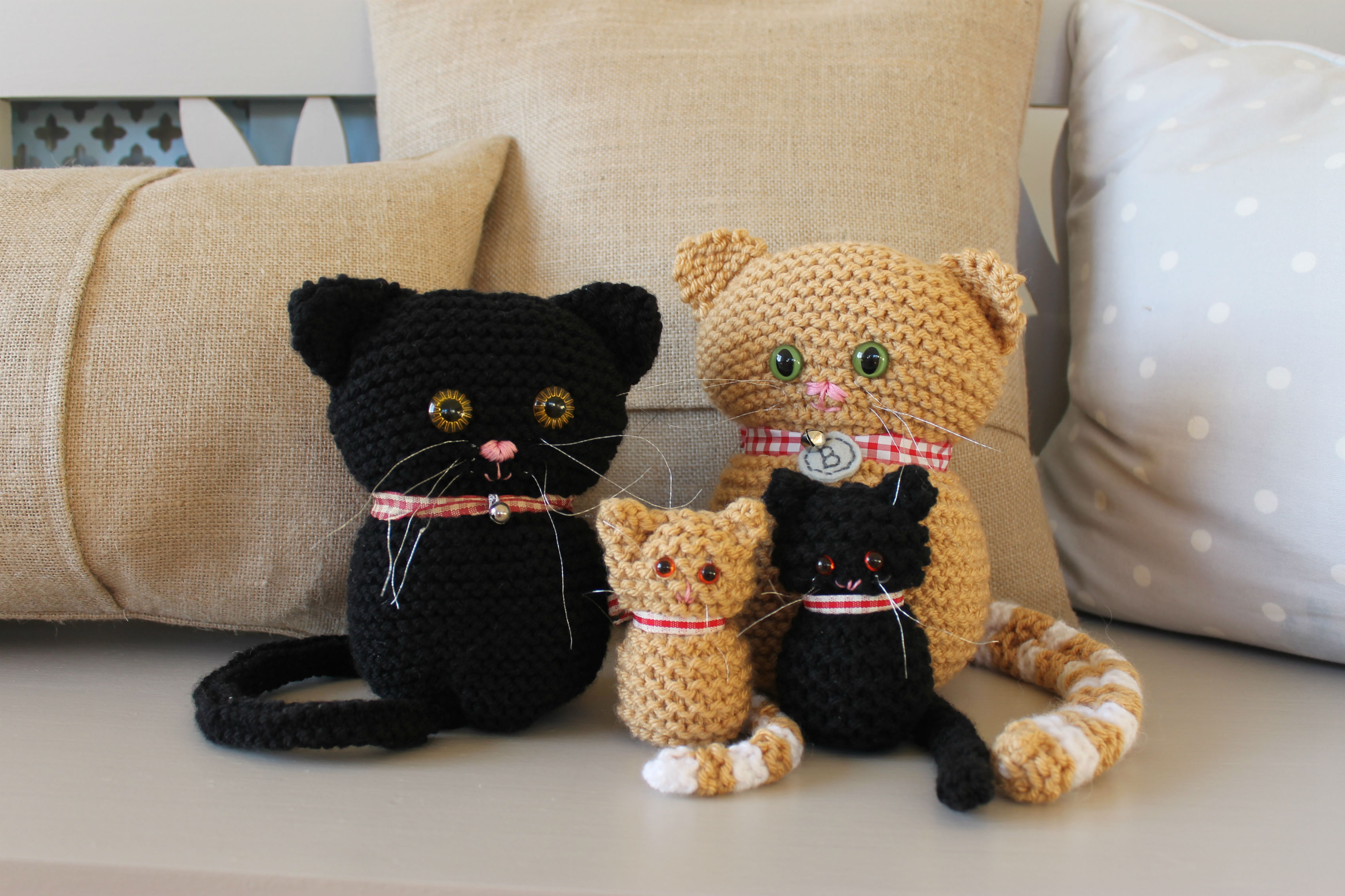 Knitted Amigurumi Cat Pattern : Cats And Kittens Knitting Pattern on Luulla